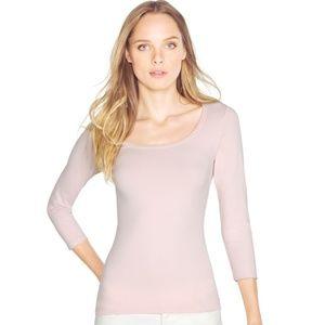 WHBM Blush Pink 3/4 Sleeve Seamless Tee- Size M